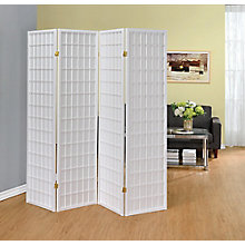 Four Panel Linear Grid Folding Screen, 8824787
