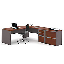 Reversible L-Workstation w/Lateral File, 8813022
