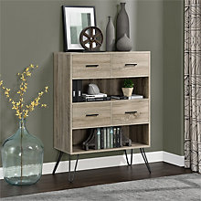 "Landon Two Shelf Bookcase With Drawers - 43.7""H, 8807690"
