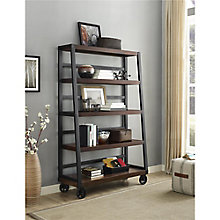 "Wade Wood Veneer Ladder Bookcase - 47""W , 8822163"
