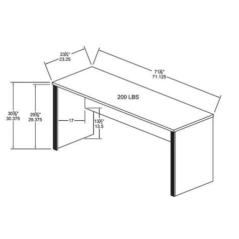 Credenza overall dimensions