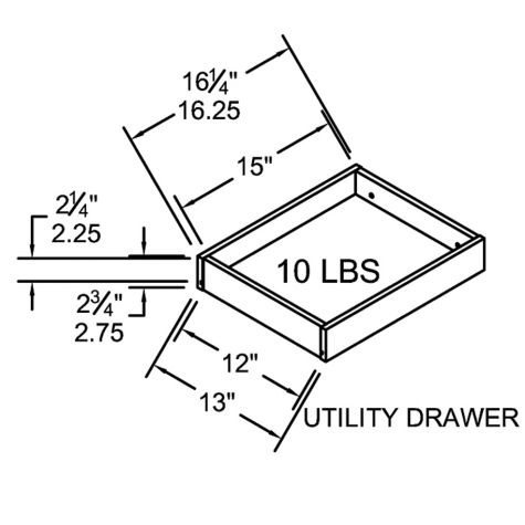 Box drawer dimensions