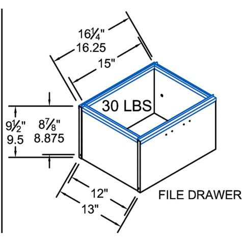 File drawer dimensions