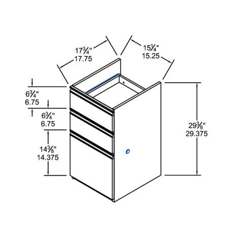 Full pedestal overall dimensions