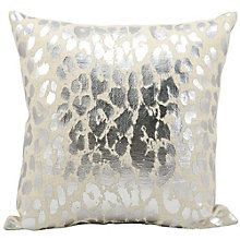 "kathy ireland by Nourison Metallic Leopard Print Pillow - 18""W x 18""H, 8803815"