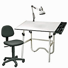 Four-Piece Drafting Set with Task Chair, ALV-CC2001A