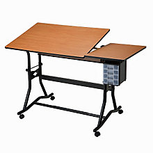 CraftMaster III Split-Top Drafting Table, ALV-CM60-3-WBR