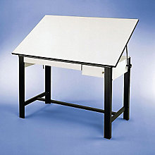 DesignMaster Four-Post Drafting Table with Black Base, ALV-DM60CT-BK