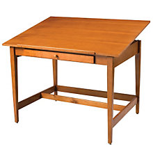 "Natural Birch Veneer Drawing Table - 48"" x 36"", ALV-VAN48"