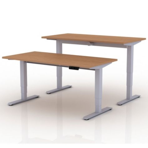Shown at low and high heights in Teak/Platinum