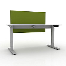 "EZ Lift Height Adjustable Desk with Privacy Screen - 60""W, 8804143"