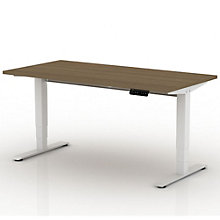 "EZ Lift Sit-to-Stand Height Adjustable Desk - 72""W, 8804134"