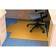 "Plush Bamboo Chairmat 3'11""W x 4'3""D with Lip, 12mm Thick, ANJ-AMB0500-1002"