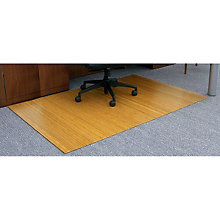 "Standard Bamboo Chair Mat, 48"" x 72"" x 5mm Thick, ANJ-AMB24001"