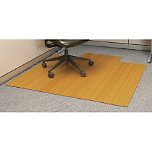 "Standard Bamboo Chair Mat, 4'7""W x 4'9""D with Lip, 5mm Thick, ANJ-AMB24008"