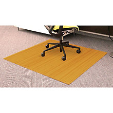 "Standard Bamboo Chair Mat, 4'W x 4'4""D 5mm Thick, ANJ-AMB24012"