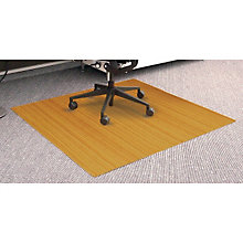 Standard Bamboo Chair Mat, 4'Wx 3.5'D x 5mm Thick, ANJ-AMB24034