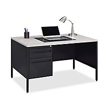 "Midland Single-Pedestal Steel Desk - 48""W x 30""D, 8828189"