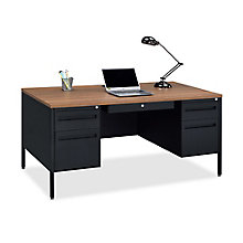 "Midland Double-Pedestal Steel Desk - 60""W x 30""D, 8828190"