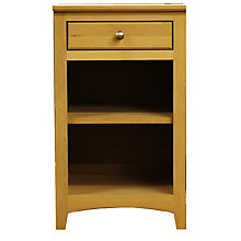 """Solid Wood One Drawer Pedestal with Two Shelves - 18""""W, 8824036"""