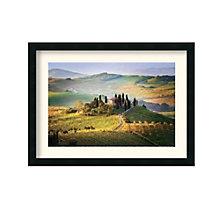 Framed Art Print- Belvedere Sunrise Tuscany by Jim Nilsen, 8801454