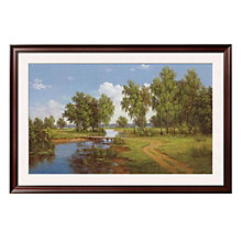 "Framed 39"" x 27"" Bridge Over Brook Print by Slava, ARS-10309"