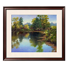 "Framed 33"" x 29"" Summer Pond Print by Mary Jean Weber, ARS-10315"