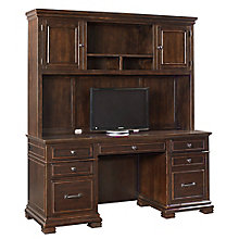 "Westley Double Pedestal Credenza with Hutch - 66""W x 24""D, 8814041"
