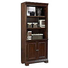 "Westley Five Shelf Bookcase with Doors - 75.5""H, 8813940"