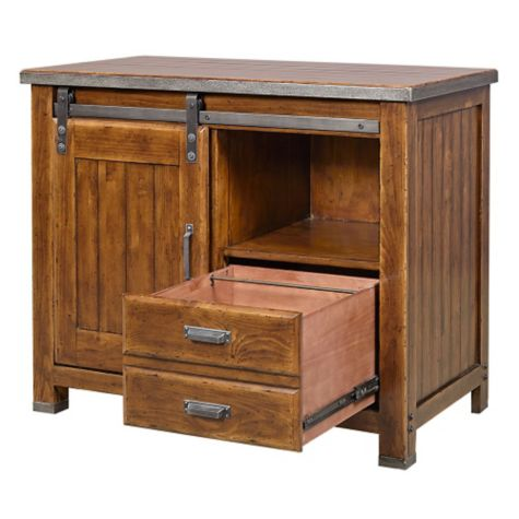 With drawers open