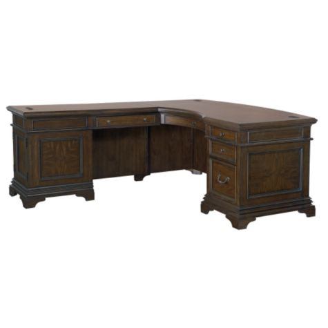 executive kitchen cabinets oakdale curved top executive l desk 66w 3621