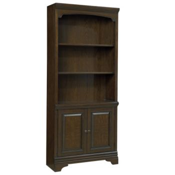 Oakdale Five Shelf Bookcase With Doors 775h Officefurniturecom