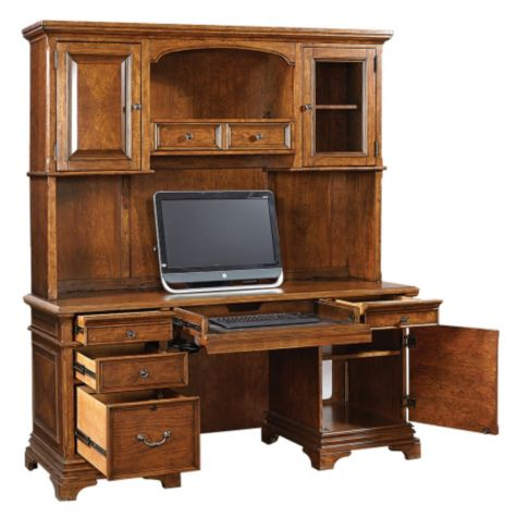 Shown with credenza drawers open