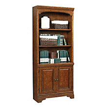 "Highland Five Shelf Bookcase with Doors - 77.5""H, 8803581"