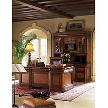 "Bordeaux Rope Twist Detail Executive Desk - 72""W, 8803668"