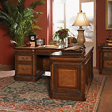 "Bordeaux Rope Twist Detail Right L-Desk - 72""W, 8803669"