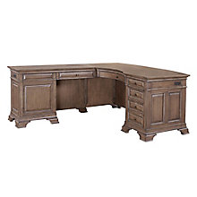 "Valencia Bowfront L-Desk with Right Return - 66""W, 8814135"
