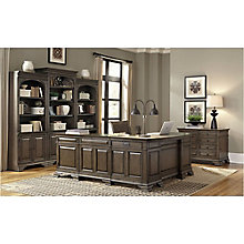 Valencia Bowfront L-Desk Office Suite, 8814151