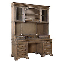 "Valencia Double Pedestal Credenza and Hutch - 72""W, 8814141"