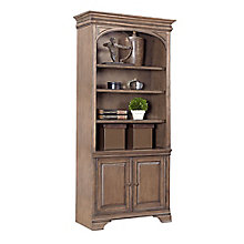 "Valenica Lighted Bookcase with Doors - 84""H, 8813987"