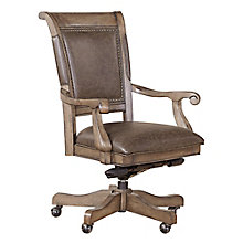 Valenica Bonded Leather Office Chair with Nailhead Trim, 8813929