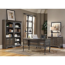 Valencia Half Pedestal Bowfront Desk Office Suite, 8814146