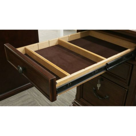 Drawers feature dividers