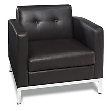 Set of 4 Modern Guest Chairs in Faux Leather, 8804219