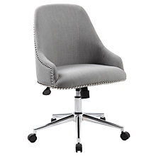 Retro Office Chair in Fabric with Nailhead Trim , 8803059