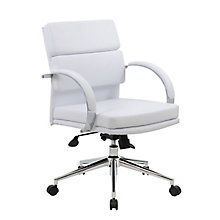 Rousseau Modern Vinyl Desk Chair, 8803656
