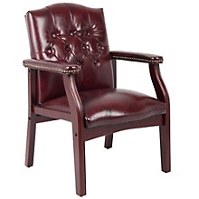 Vinyl Traditional Tufted Guest Arm Chair, 8825785