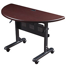 Mobile Half-Round Flip-Top Table, BAL-FT8904