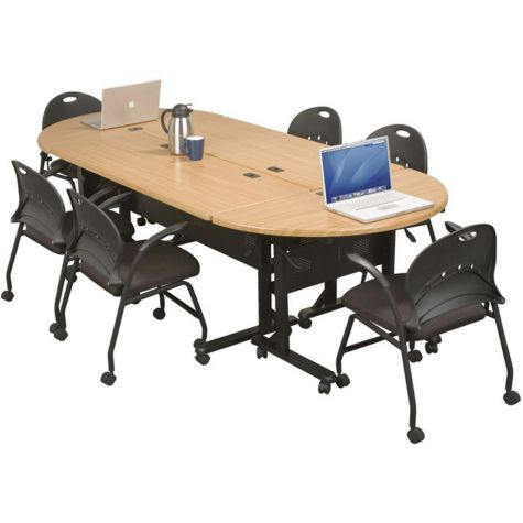 Combine  tables to create a conference table.