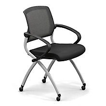 Nex Polyurethane Nesting Chair with Arm and Mesh Back, 8808164